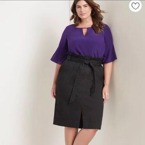 Eloquii Paper bag waist pencil skirt.